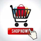 Shopping design — Vecteur