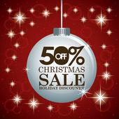 Christmas sale design  — Vector de stock