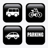 Parking design  — Vettoriale Stock