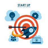 Start up design  — Stock Vector