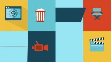 Cinema Icons — Stock Video