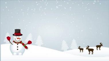 Snow christmas — Stock Video