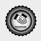 Teamarbeit-design — Stockvektor