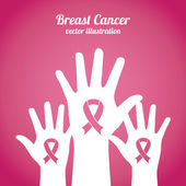Breast cancer design  — Stockvector