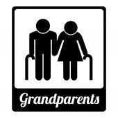 Grandparents  design  — Vetorial Stock
