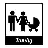 семьи дизайн — Cтоковый вектор