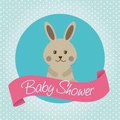 Babby shower design  — Vettoriale Stock
