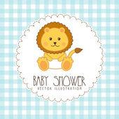 Babby shower design  — Stock Vector