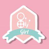 девушка дизайн — Cтоковый вектор