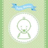 Babby shower design  — Stockvector