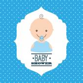 Babby shower design  — Stock vektor