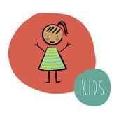Diseño de los niños — Vector de stock