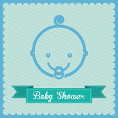 Baby shower design  — Stockvector
