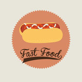 Fast food design — Stock Vector