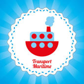 Maritime transport design  — Stockvector