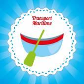 Maritime transport design  — Stock Vector