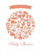 Baby shower design  — Stock Vector
