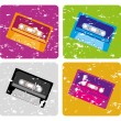 Cassettes — Stock Vector #58085627