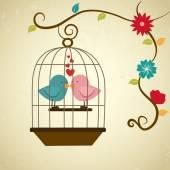鸟爱 — 图库矢量图片