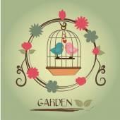 花园 — 图库矢量图片