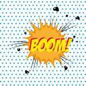 Boom comic — Stock Vector