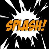 Splash comic — Stock Vector
