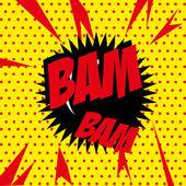 Bam bam comic — Stock Vector
