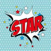 Star comic — Stock Vector
