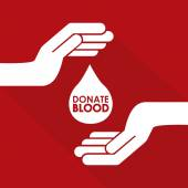 Donate blood design — Stock Vector