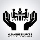 Human resources design  — Vector de stock