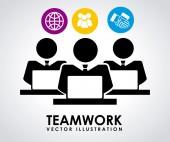 Teamwerk ontwerp — Stockvector