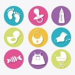 Baby shower design — Stock Vector #58316707