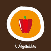 Vegetable design  — Stockvektor