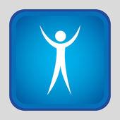 Human silhouette design  — Vecteur