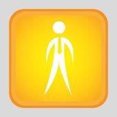 человеческий силуэт дизайн — Cтоковый вектор