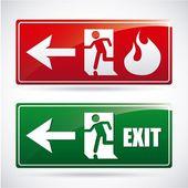 Fire alarm design — Stock Vector