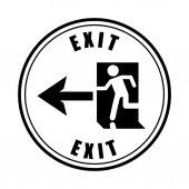 Emergency way design  — Stock Vector