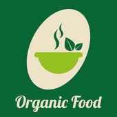 Projeto de alimentos orgânicos — Vetor de Stock