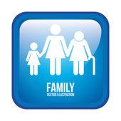 Familie design — Stockvektor