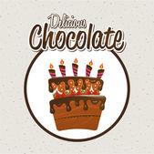 Chocolate design  — Stock Vector