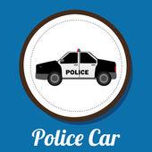 Police car design — Stock Vector