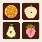 Desenho de frutas — Vetor de Stock