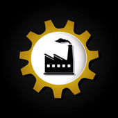 Industry design over black background vector illustratrion — Stock Vector