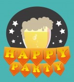 Party design over blue background vector illustration — Stock Vector