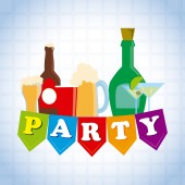 Party design over white background vector illustration — Stock Vector