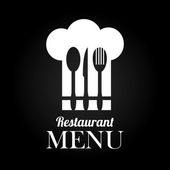 Restaurant design over black background vector illustration — Stock Vector