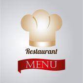 Restaurant design over gray background vector illustration — Stock Vector