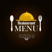 Restaurant design over brown background vector illustration — Stock Vector