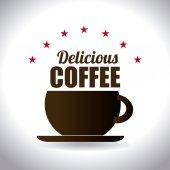 Coffee design over white background vector illustration — Stock Vector