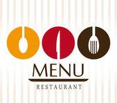 Restaurant design over white background vector illustration — Stock Vector